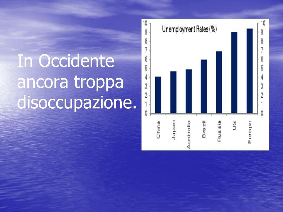 In Occidente ancora troppa disoccupazione.