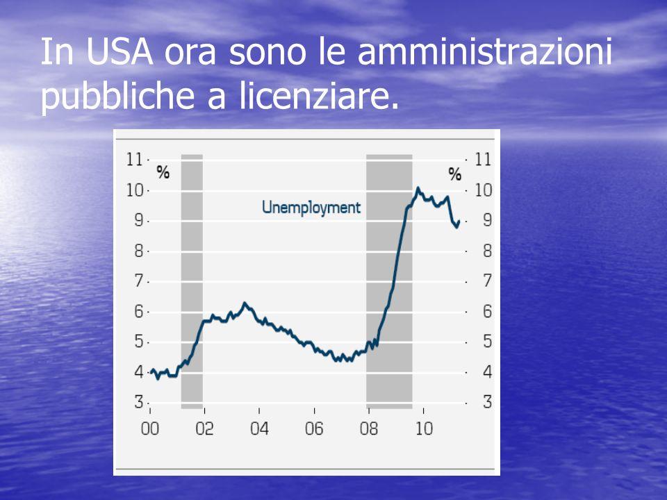 In USA ora sono le amministrazioni pubbliche a licenziare.