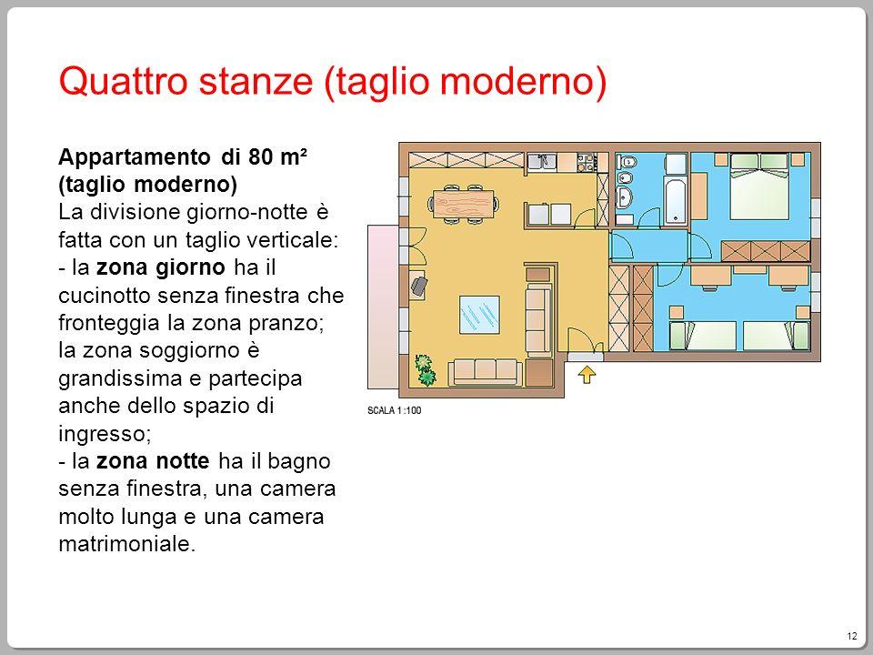 Quattro stanze (taglio moderno)