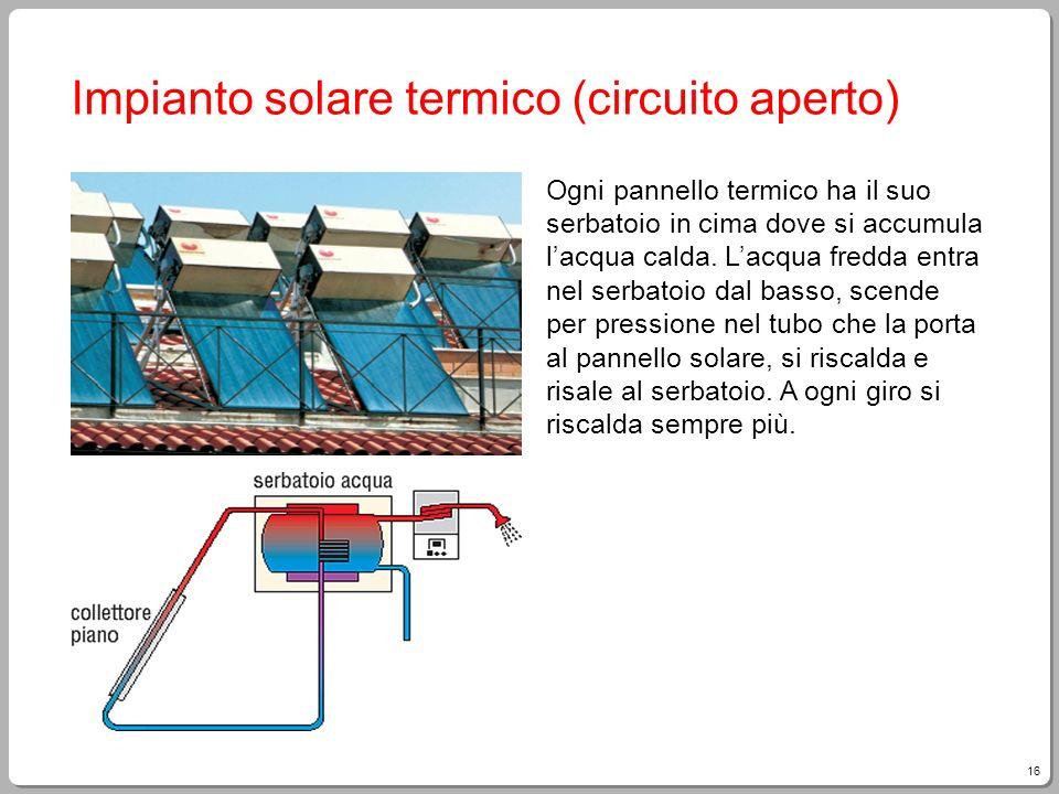 Impianto solare termico (circuito aperto)