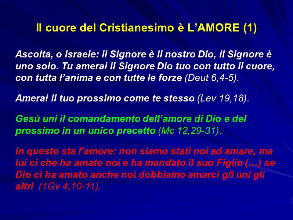 Il cuore del Cristianesimo è L'AMORE (1)