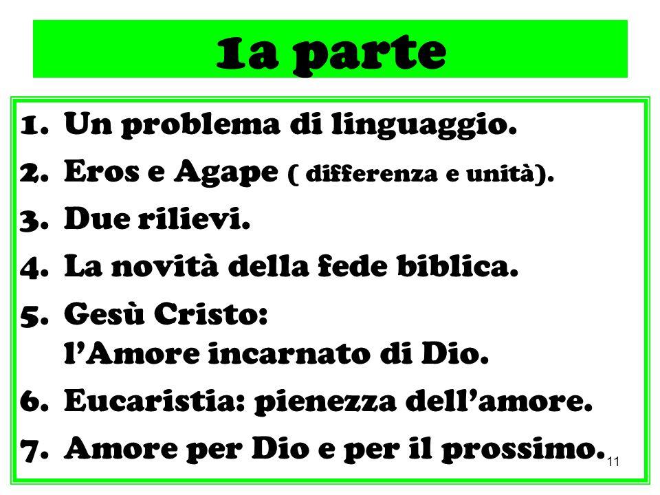 1a parte Un problema di linguaggio.