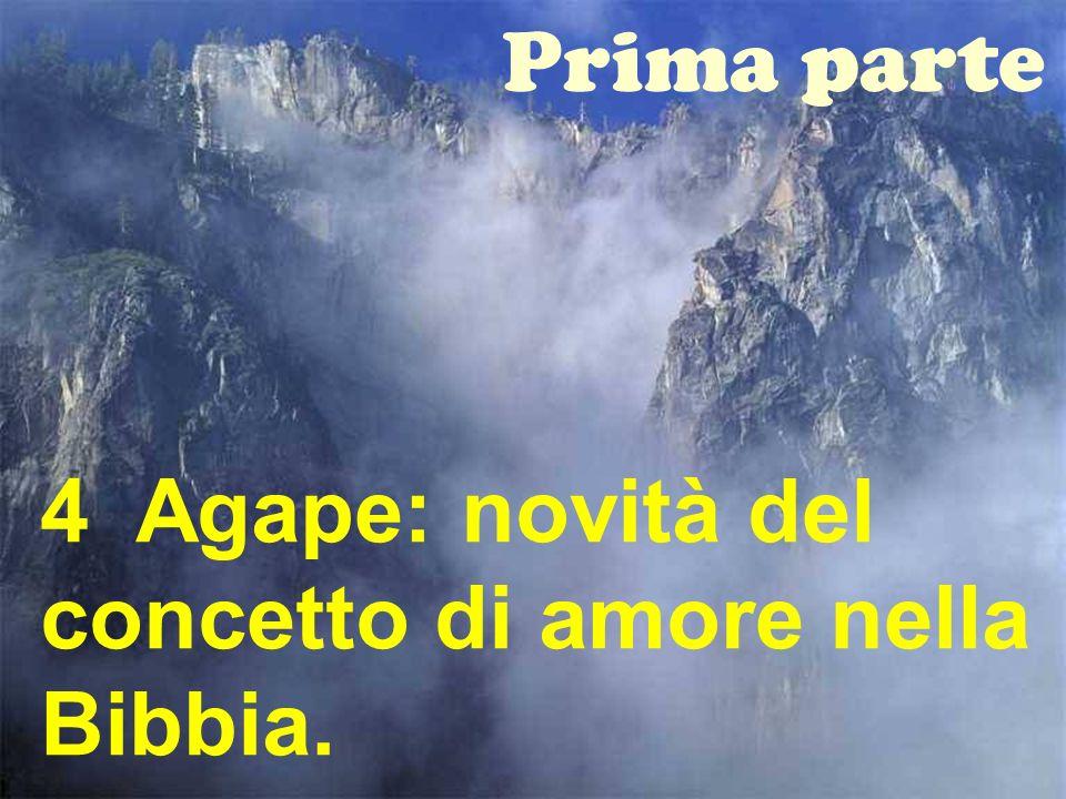 Prima parte 4 Agape: novità del concetto di amore nella Bibbia.