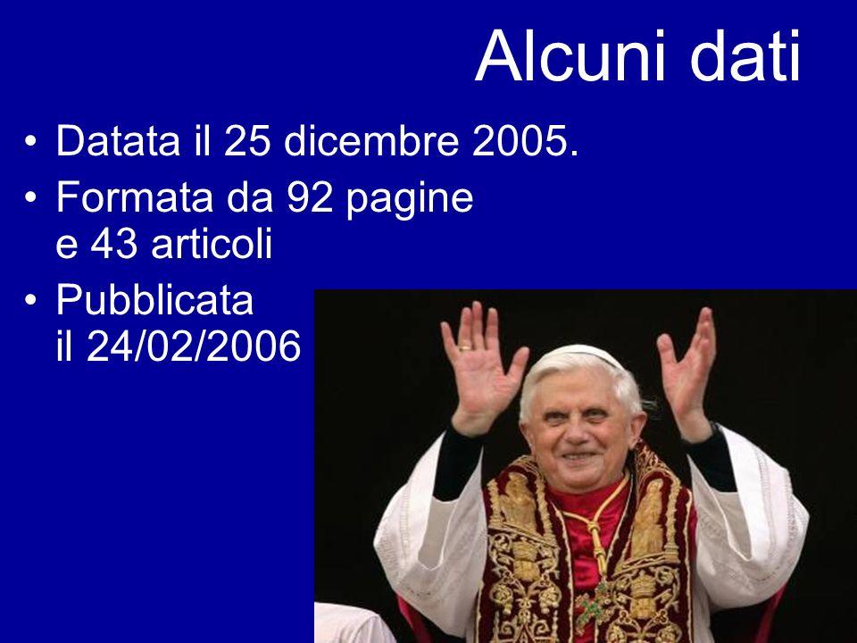 Alcuni dati Datata il 25 dicembre 2005.