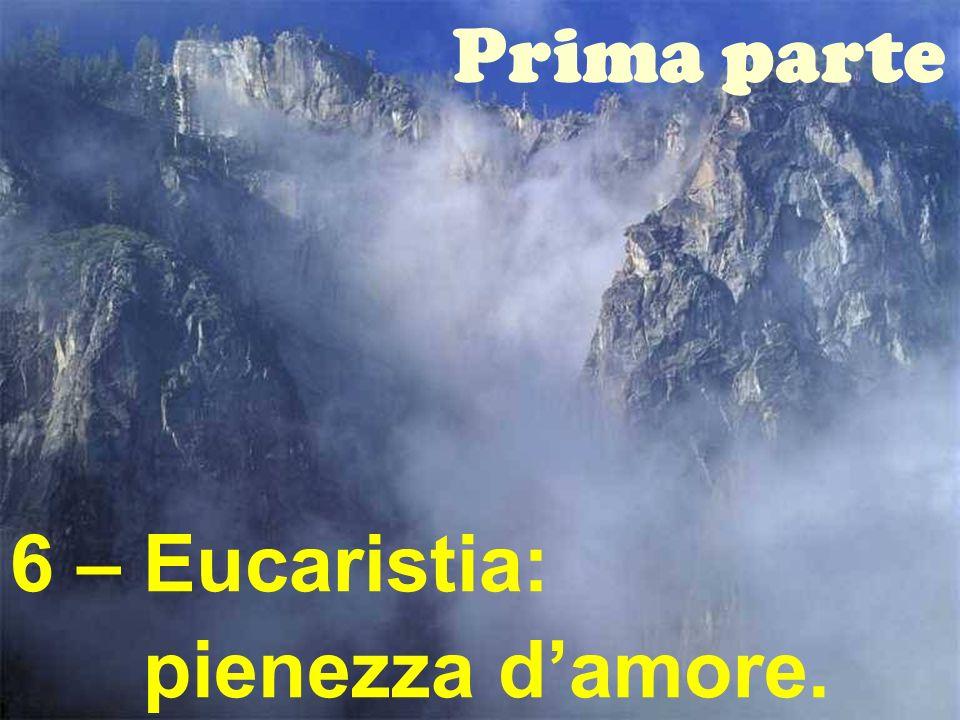 Prima parte 6 – Eucaristia: pienezza d'amore.