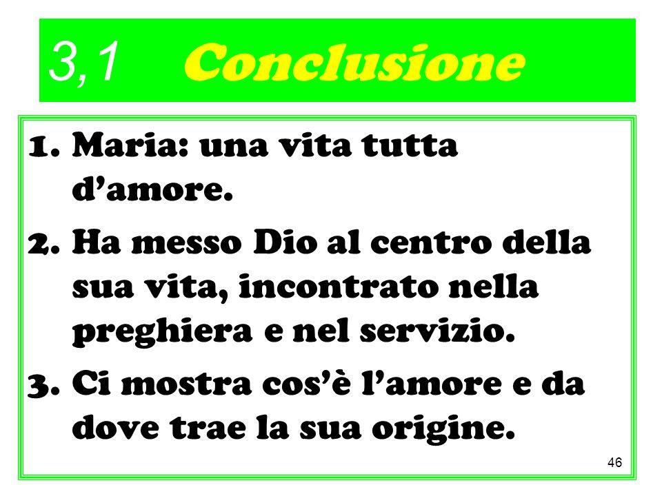 3,1 Conclusione Maria: una vita tutta d'amore.