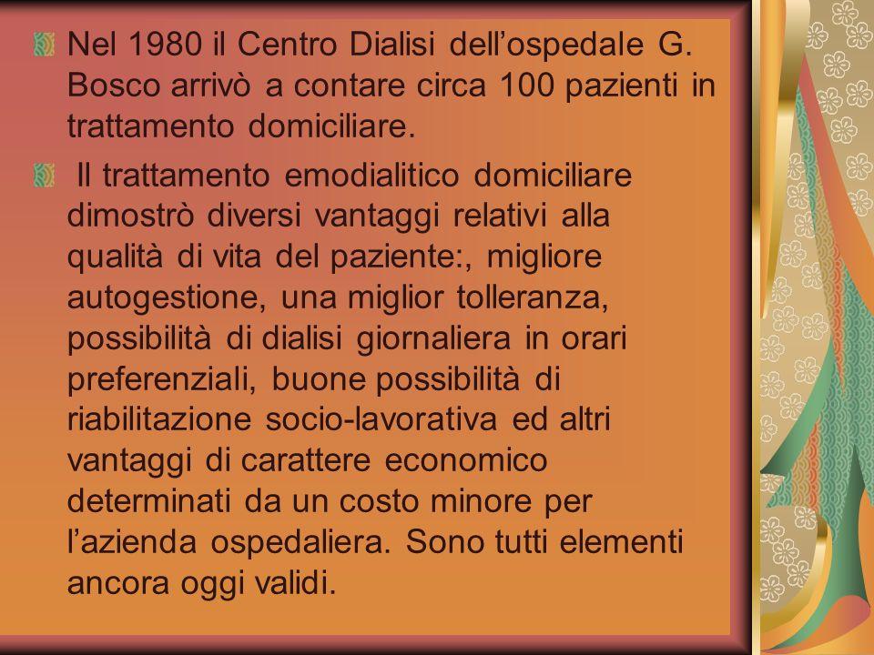 Nel 1980 il Centro Dialisi dell'ospedale G