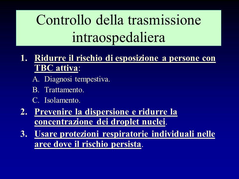 Controllo della trasmissione intraospedaliera