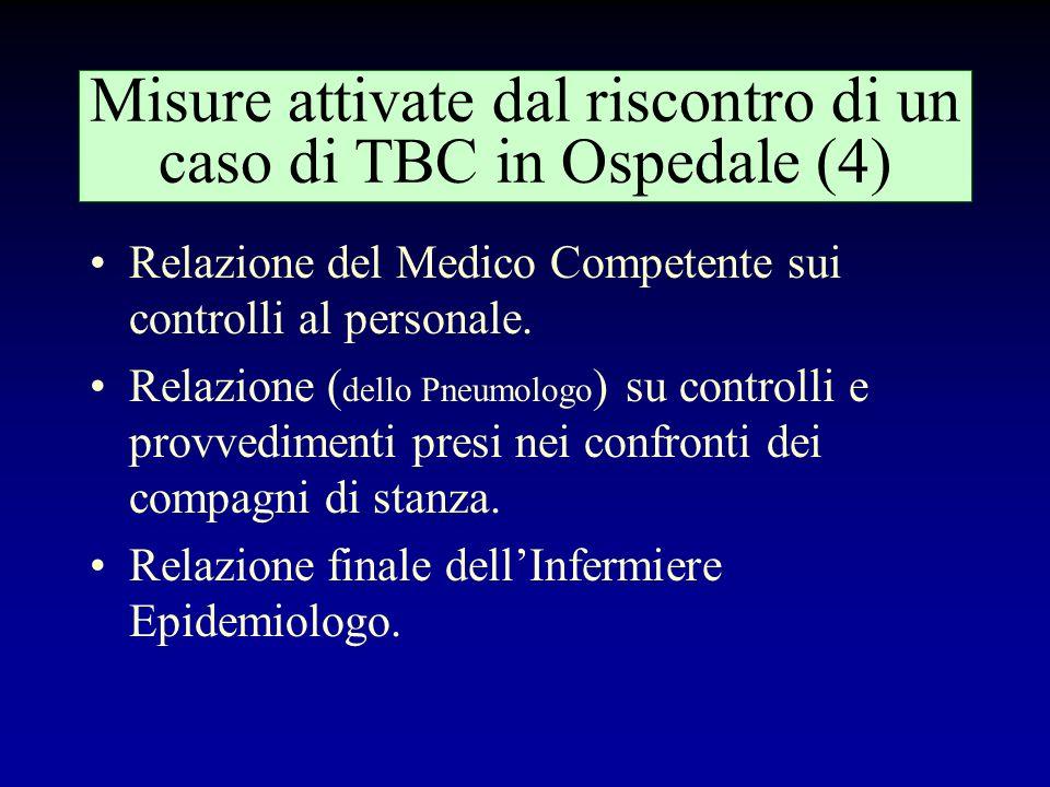 Misure attivate dal riscontro di un caso di TBC in Ospedale (4)