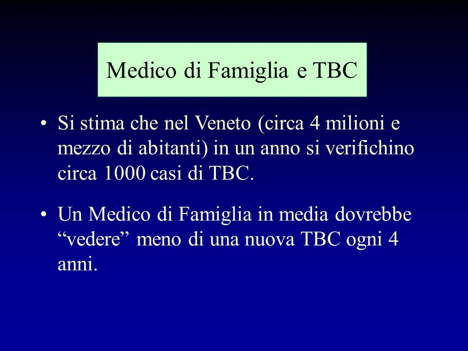 Medico di Famiglia e TBC