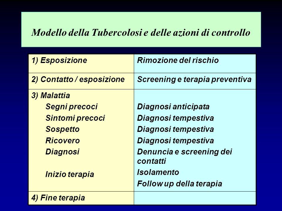 Modello della Tubercolosi e delle azioni di controllo