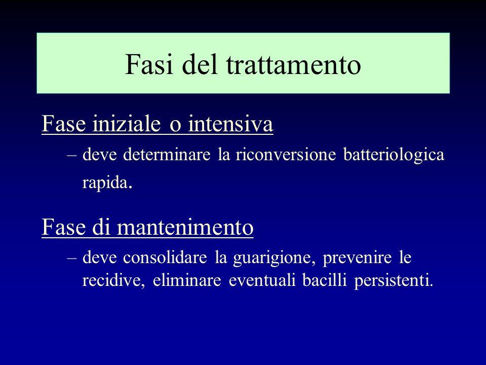 Fasi del trattamento Fase iniziale o intensiva Fase di mantenimento