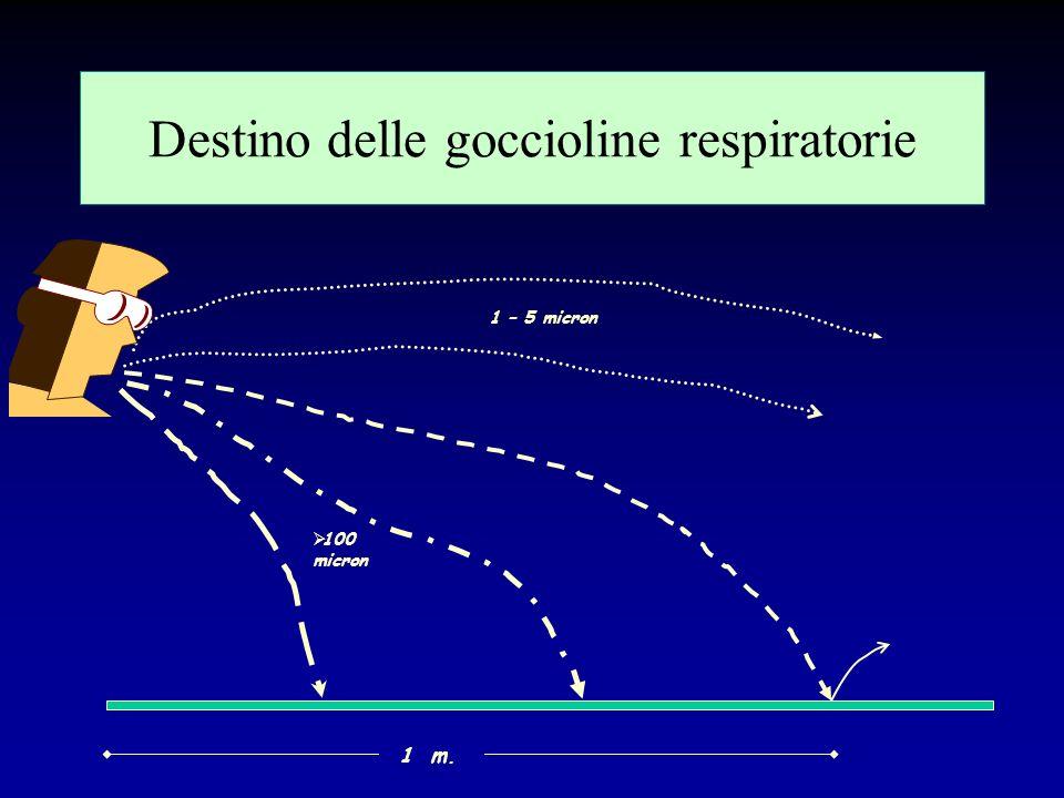Destino delle goccioline respiratorie