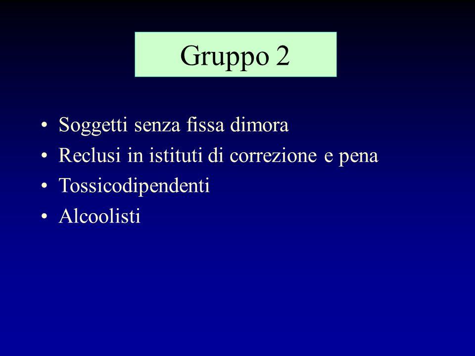 Gruppo 2 Soggetti senza fissa dimora