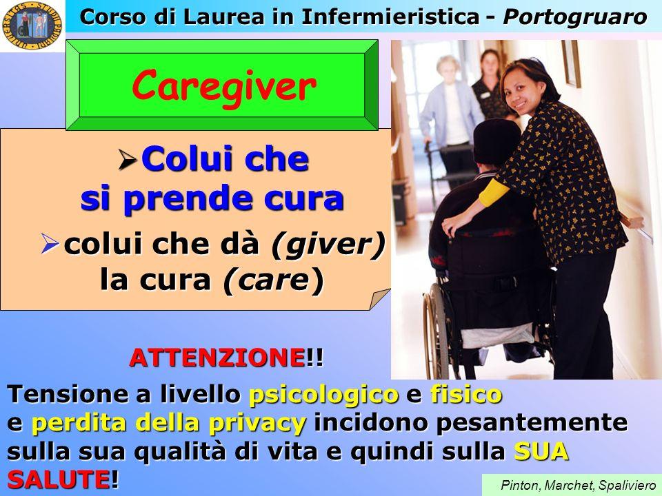 Caregiver Colui che si prende cura colui che dà (giver) la cura (care)