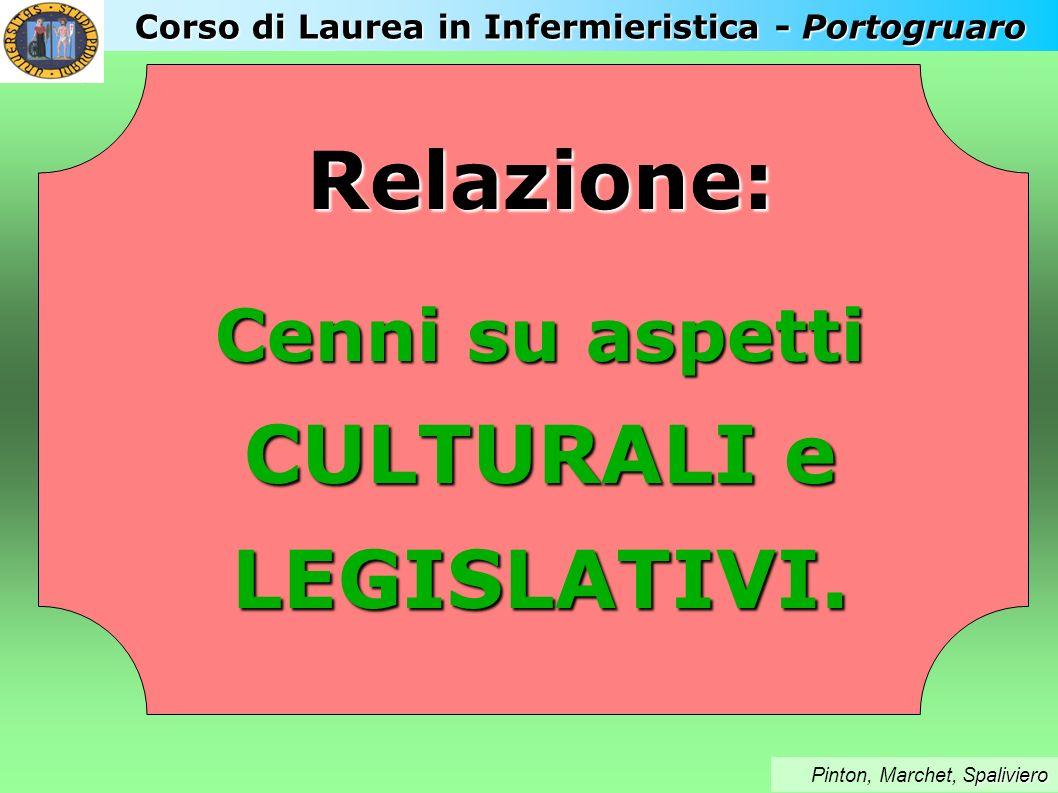 Relazione: CULTURALI e LEGISLATIVI.
