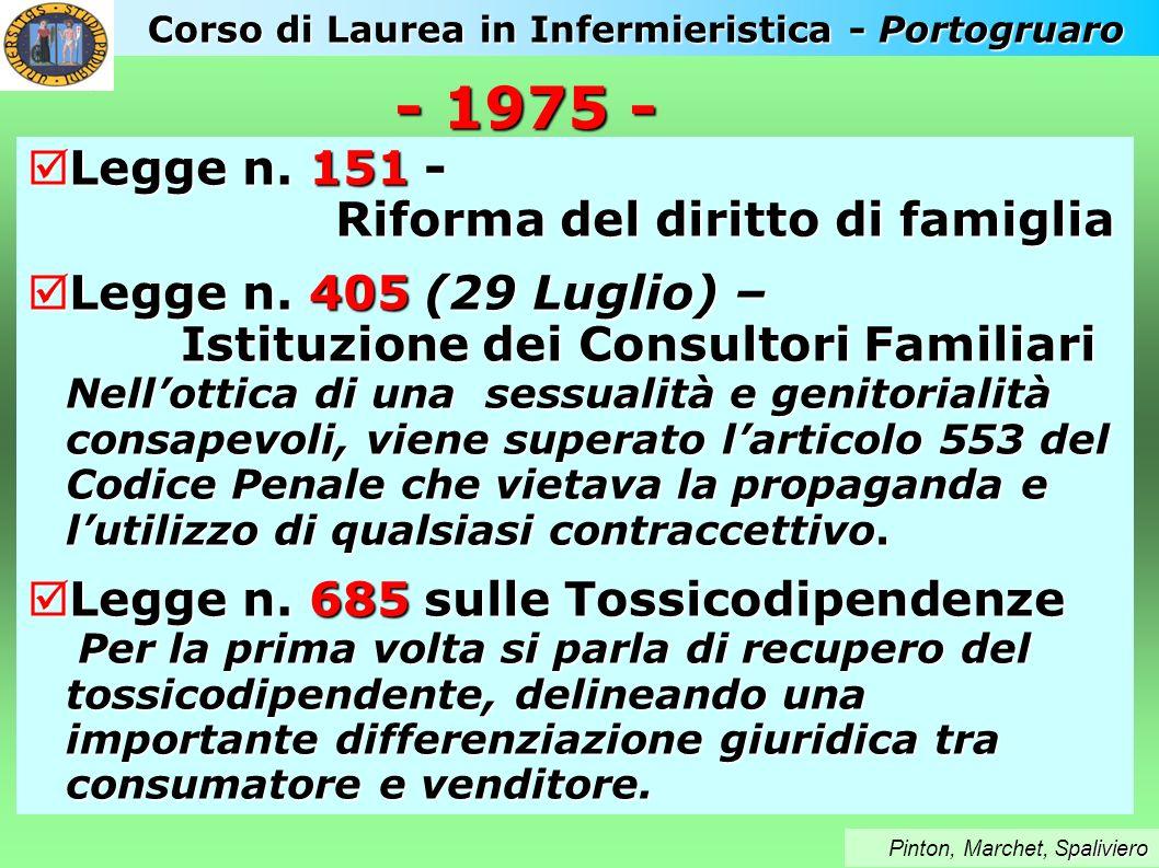 Corso di Laurea in Infermieristica - Portogruaro