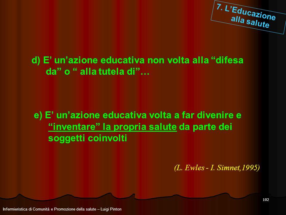 7. L'Educazione alla salute