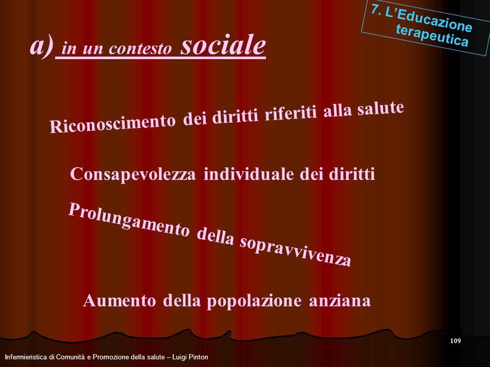 a) in un contesto sociale