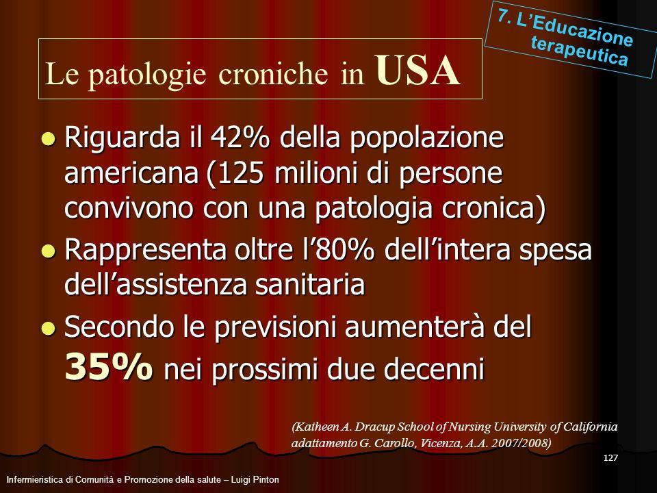 Le patologie croniche in USA