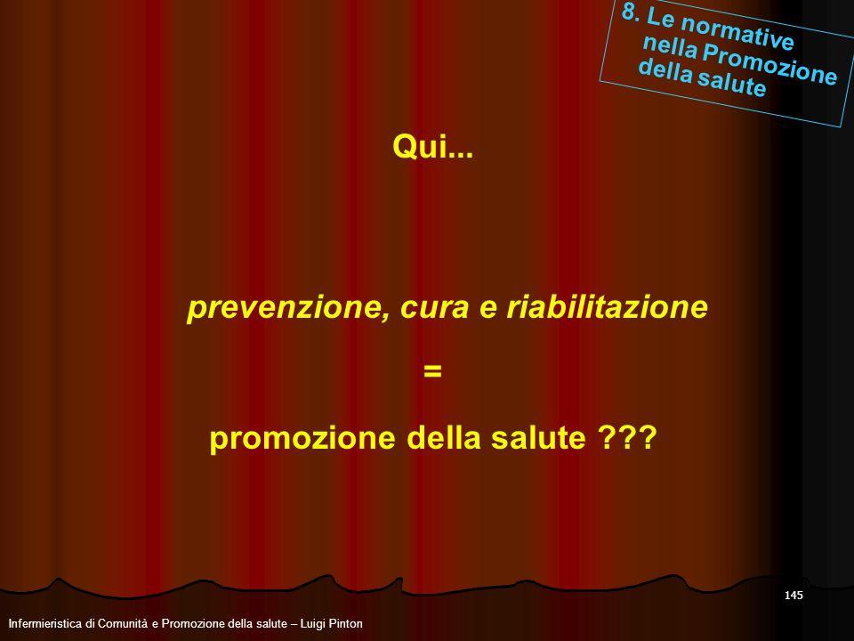 prevenzione, cura e riabilitazione promozione della salute