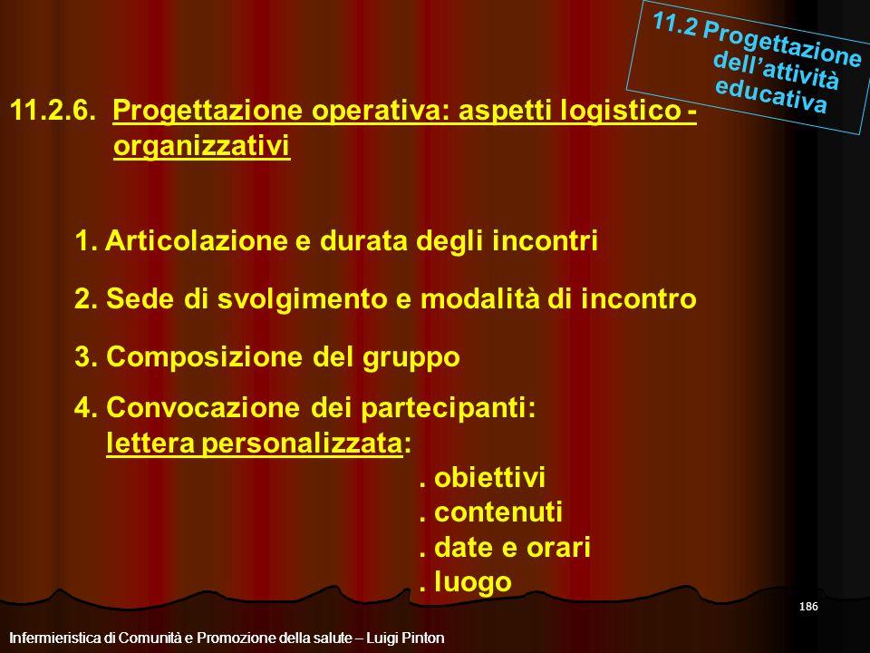 11.2 Progettazione dell'attività educativa