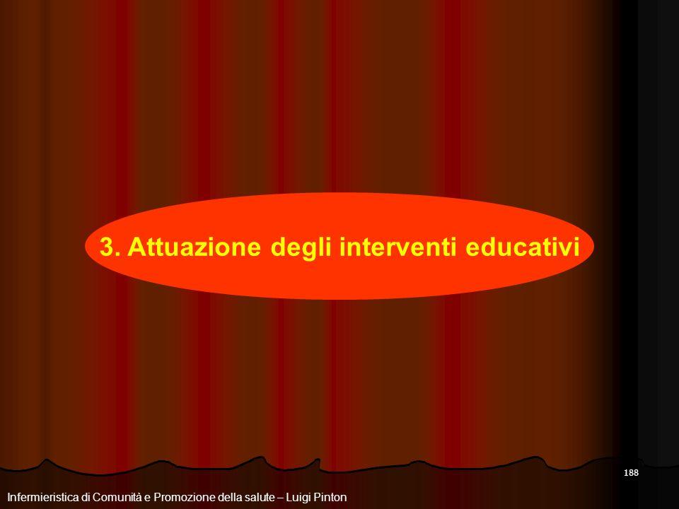 3. Attuazione degli interventi educativi
