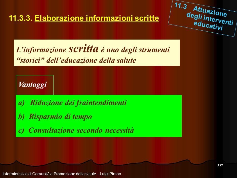 11.3.3. Elaborazione informazioni scritte