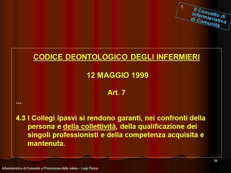 CODICE DEONTOLOGICO DEGLI INFERMIERI