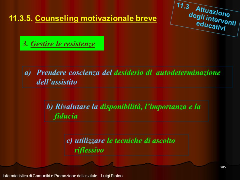 11.3.5. Counseling motivazionale breve
