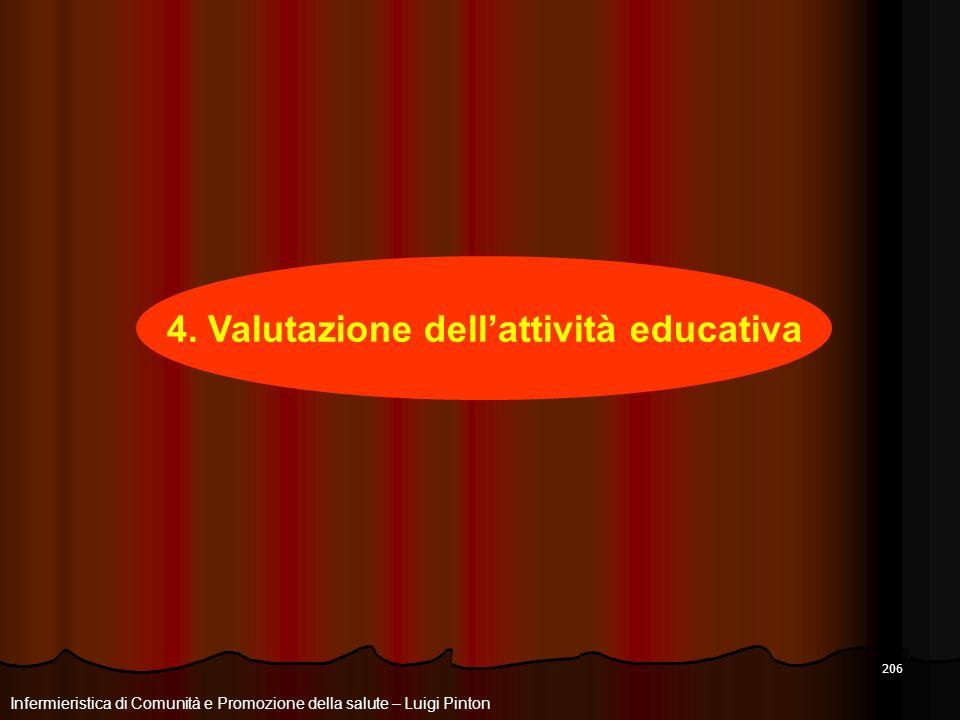 4. Valutazione dell'attività educativa