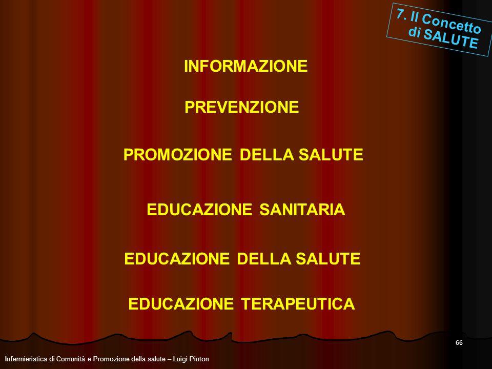 INFORMAZIONE PREVENZIONE EDUCAZIONE SANITARIA