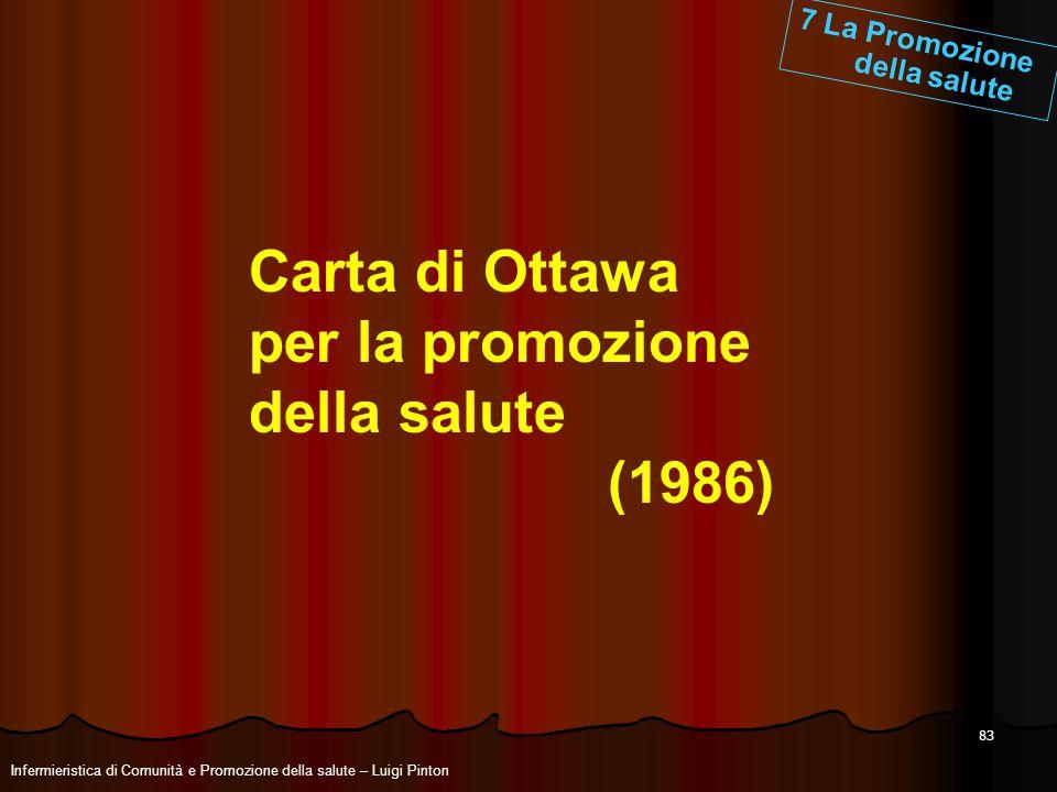 Carta di Ottawa per la promozione della salute (1986)
