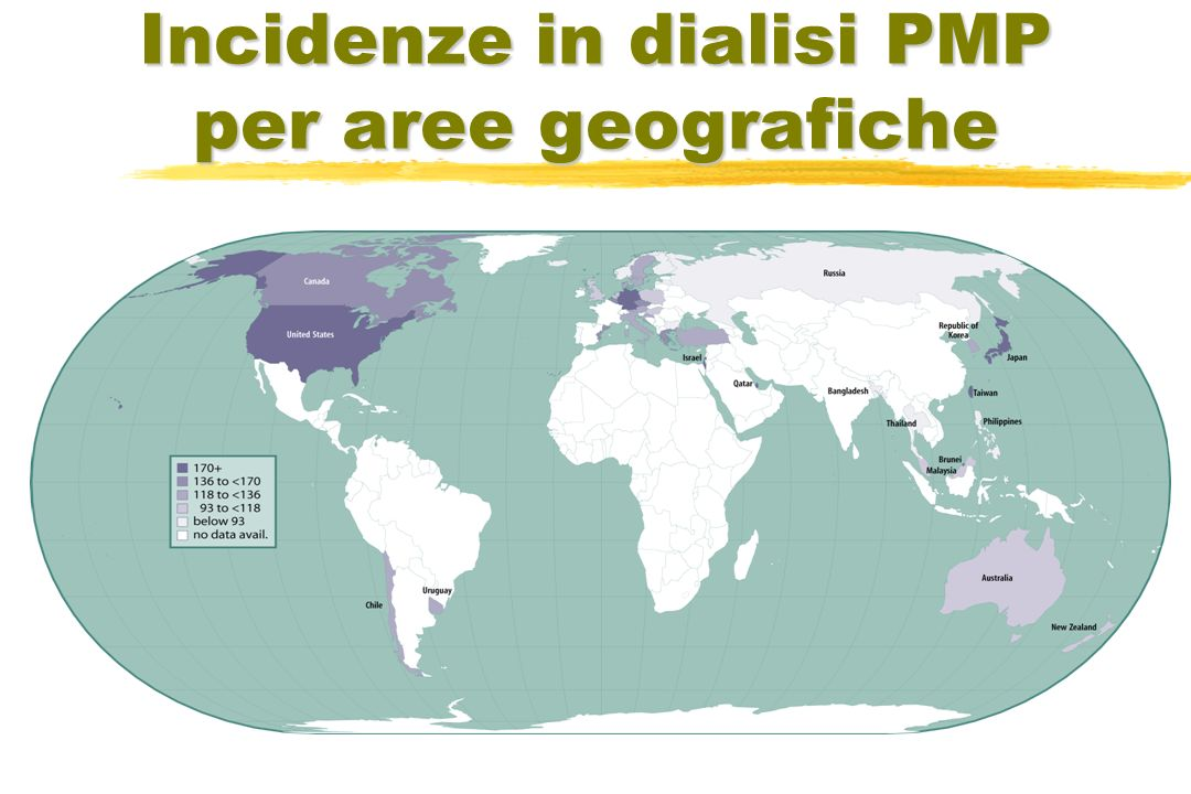 Incidenze in dialisi PMP per aree geografiche