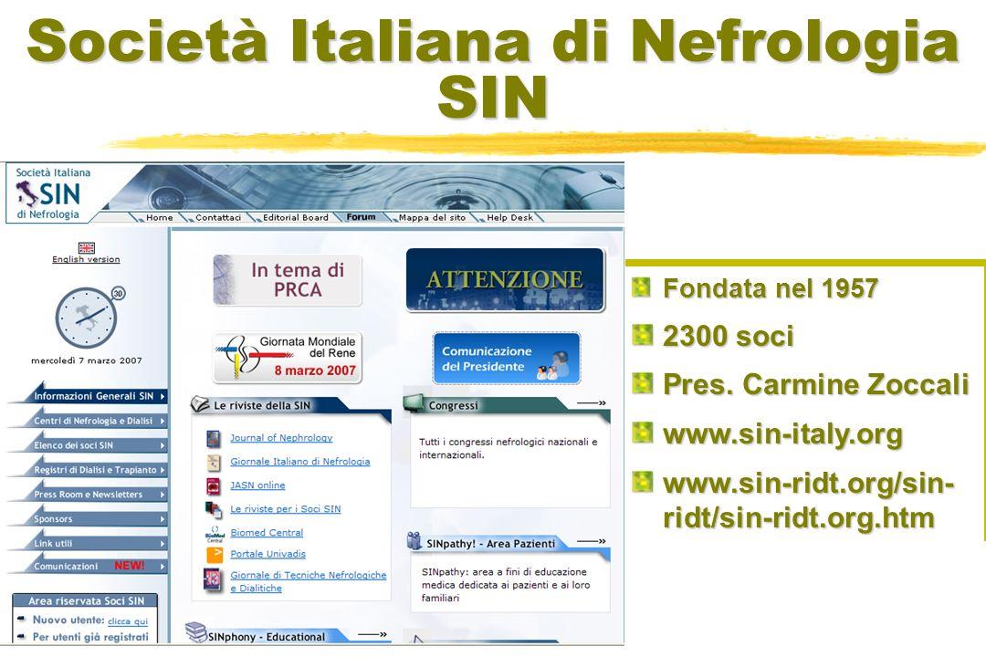 Società Italiana di Nefrologia SIN