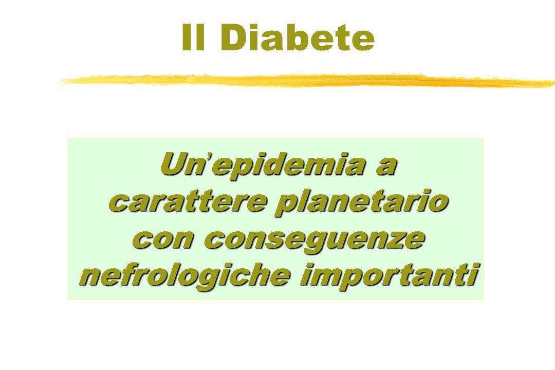 Il Diabete Un'epidemia a carattere planetario con conseguenze nefrologiche importanti.