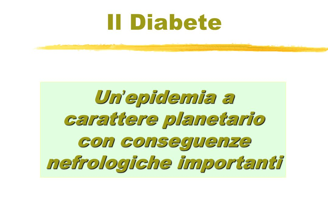 Il DiabeteUn'epidemia a carattere planetario con conseguenze nefrologiche importanti.