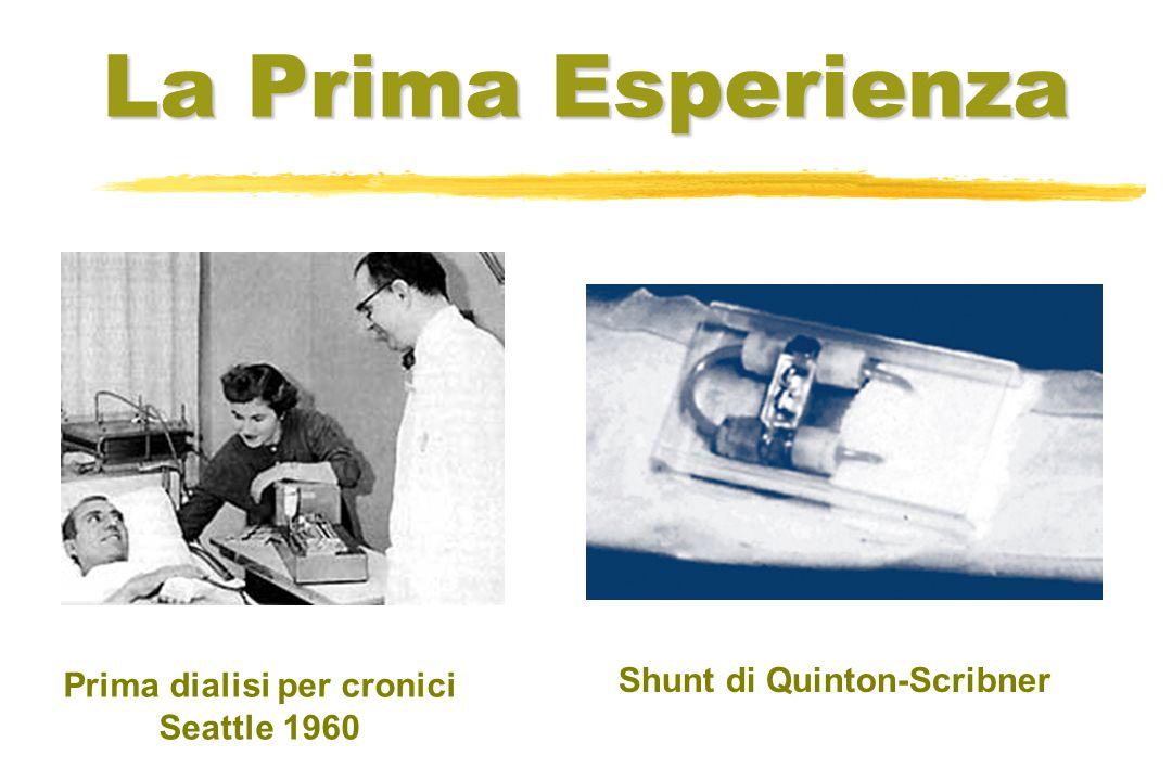 Prima dialisi per cronici Shunt di Quinton-Scribner