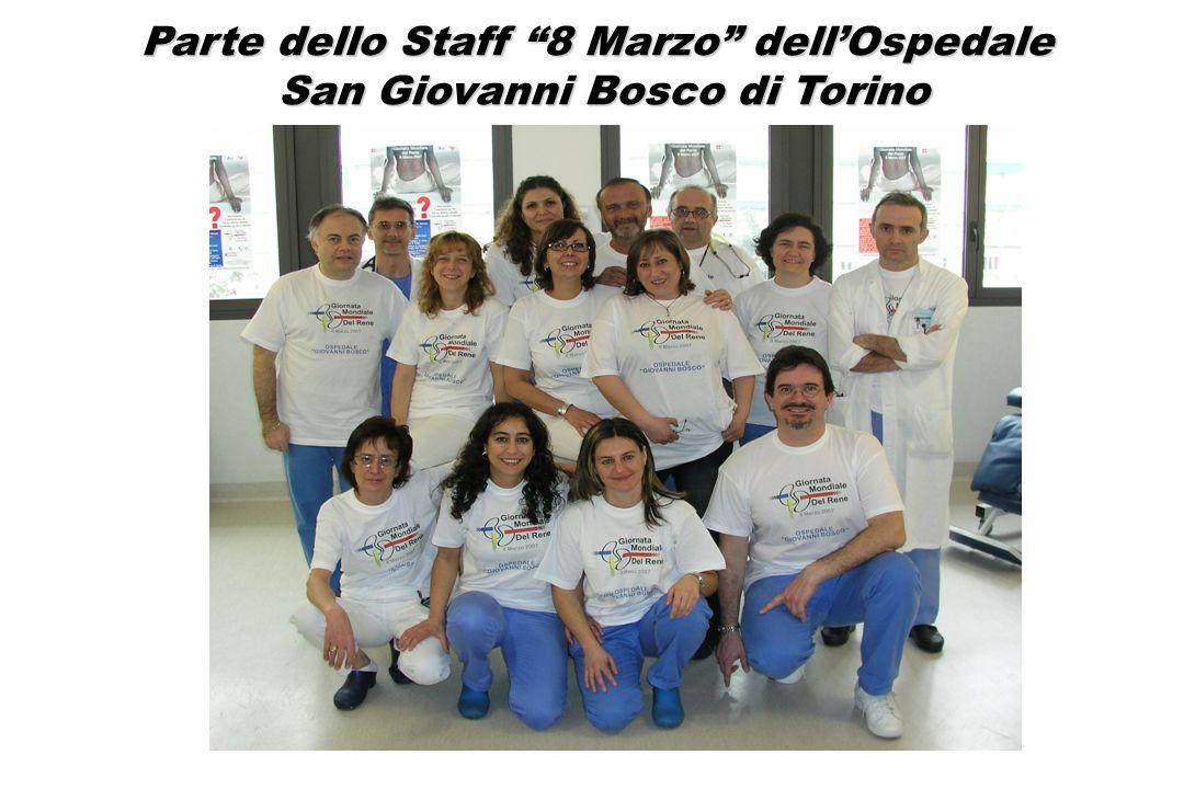 Parte dello Staff 8 Marzo dell'Ospedale San Giovanni Bosco di Torino