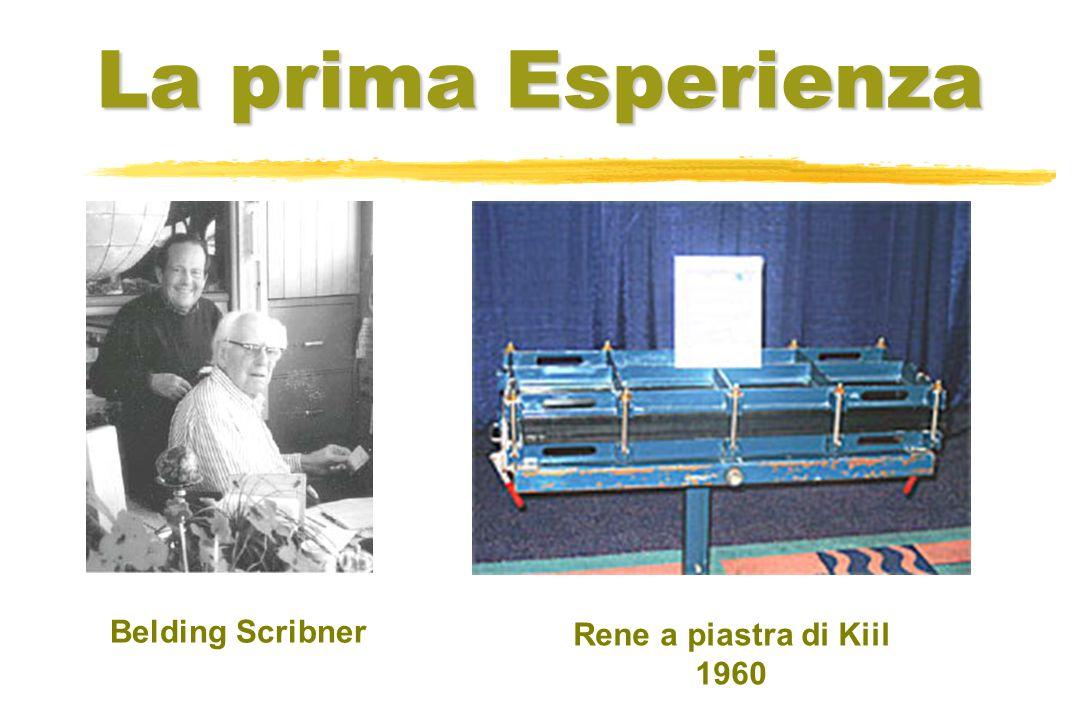 La prima Esperienza Belding Scribner Rene a piastra di Kiil 1960