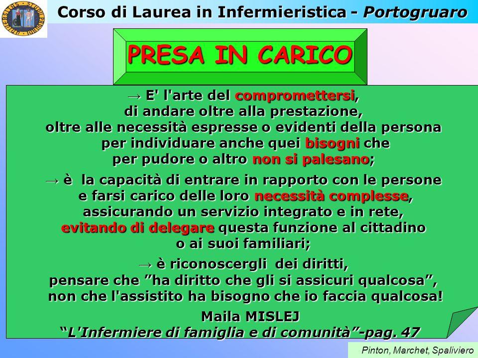 PRESA IN CARICO Corso di Laurea in Infermieristica - Portogruaro