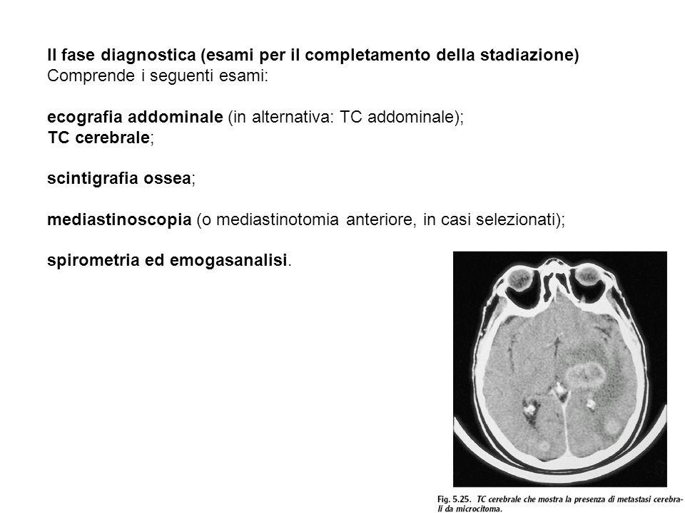 II fase diagnostica (esami per il completamento della stadiazione)