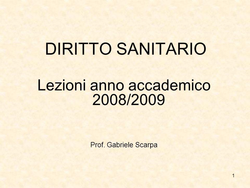 Lezioni anno accademico 2008/2009