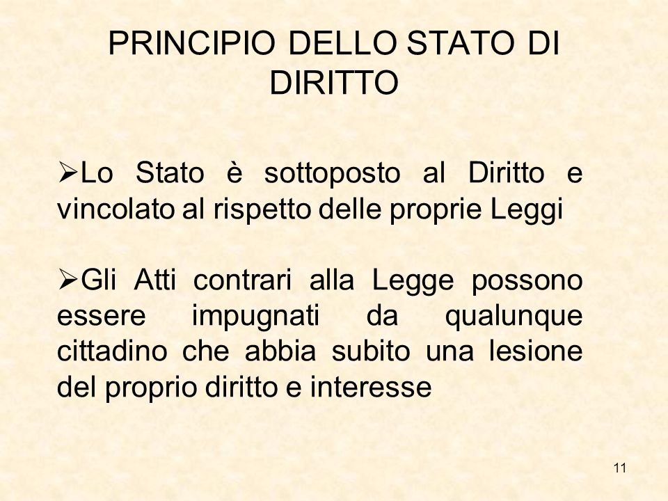 PRINCIPIO DELLO STATO DI DIRITTO