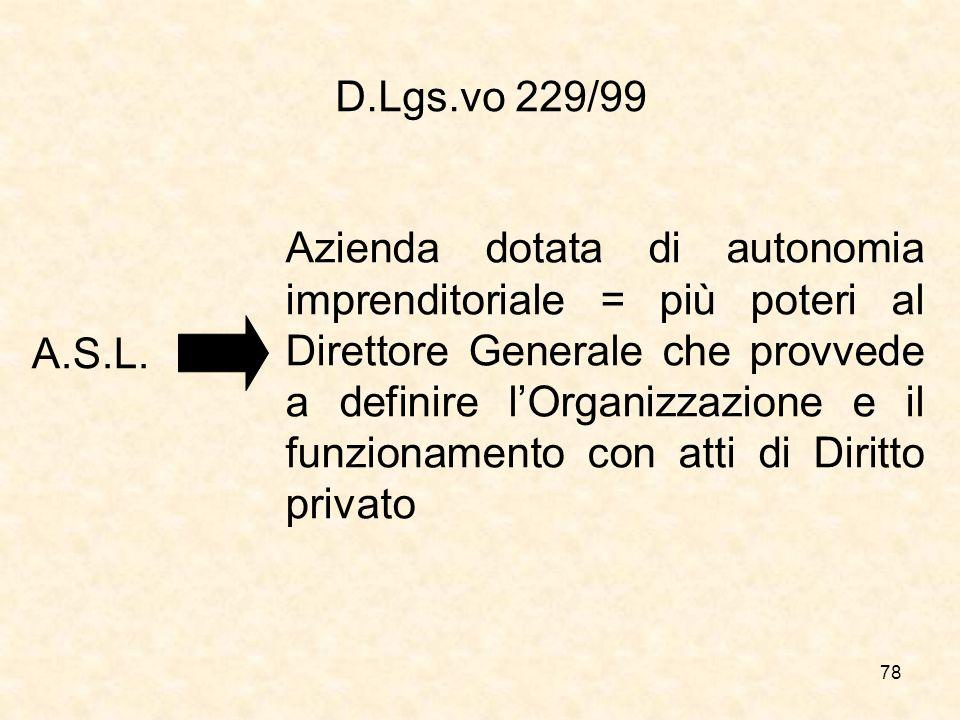 D.Lgs.vo 229/99