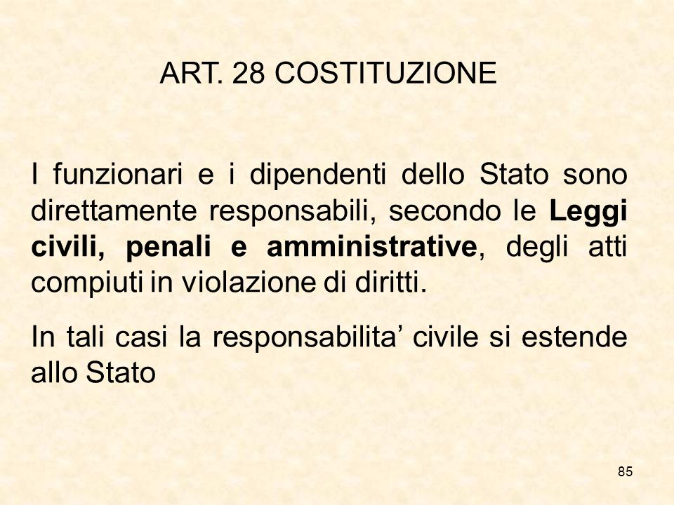 ART. 28 COSTITUZIONE