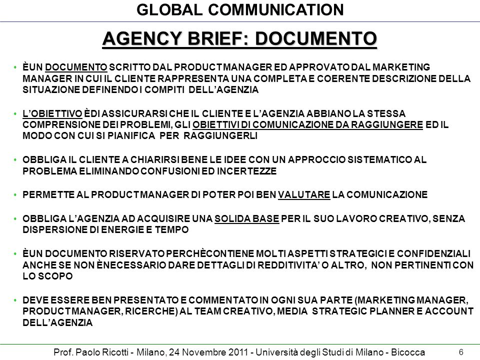 AGENCY BRIEF: DOCUMENTO