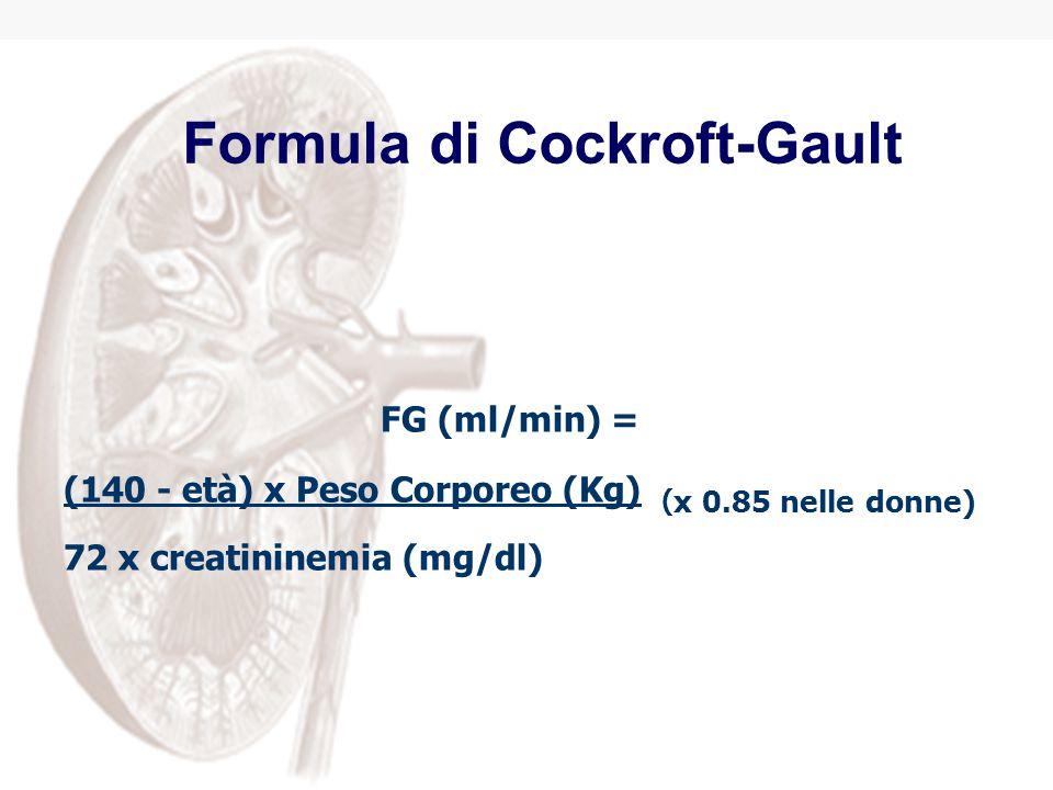 Formula di Cockroft-Gault
