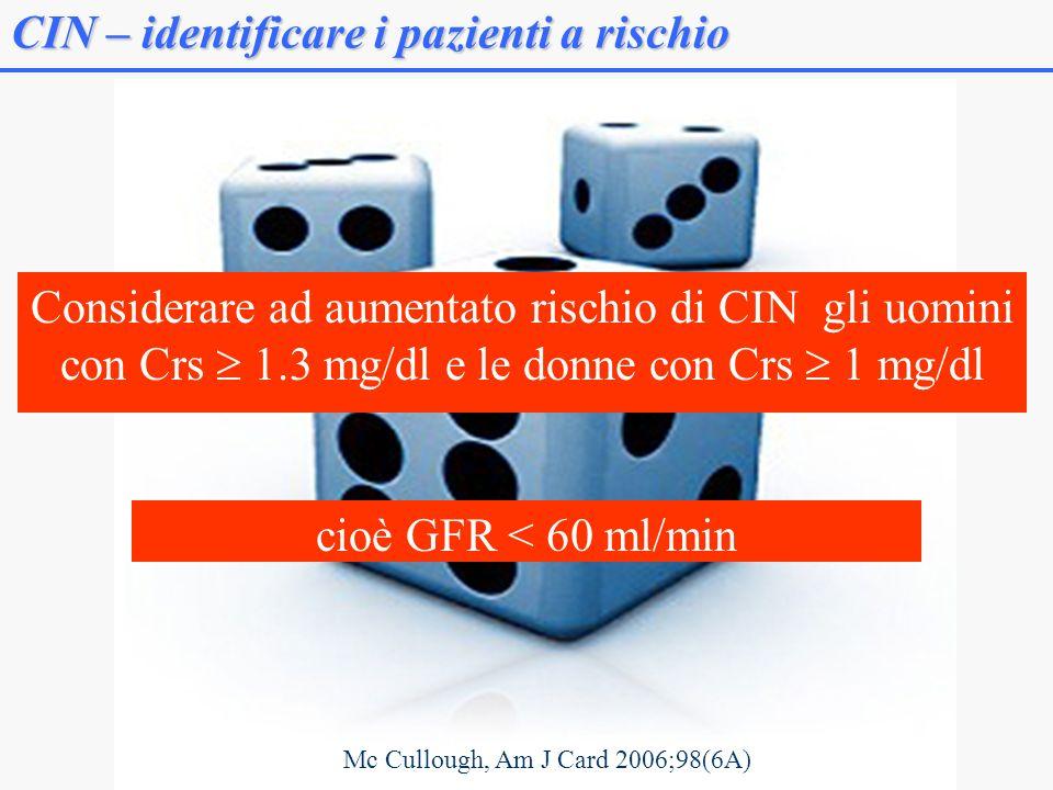CIN – identificare i pazienti a rischio