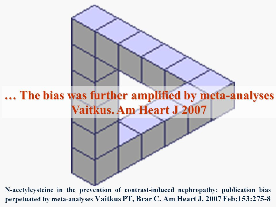 … The bias was further amplified by meta-analyses